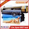 A impressora larga ao ar livre de venda quente do formato de Funsunjet Fs-3202g 3.2m/10FT com dois Dx5 dirige 1440dpi para a impressão da etiqueta do vinil