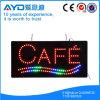 Muestra impermeable del café LED del rectángulo de Hidly