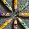 Lápis da cor do arco-íris