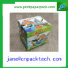 Caja de embalaje de empaquetado modificada para requisitos particulares del regalo del rectángulo de la cartulina del rectángulo de papel de la tapa
