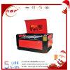 Nicht Metall geschlossene lederne hölzerne Acryl-Laser-Stich-Ausschnitt-Glasmaschine