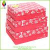 Papel de color rojo caja de regalo de Navidad al por mayor