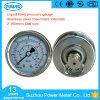 2 indicateur de pression liquide rempli d'huile de caisse du cadran solides solubles de pouce