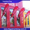Bandeira ao ar livre feita sob encomenda do Teardrop do poliéster do Fastness de cor, anunciando a bandeira do Teardrop