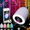 Bulbo de la música del altavoz LED de Dimmable Bluetooth con diversos colores