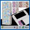Cubierta del cuero de la carpeta del portatarjetas de la identificación para el iPhone 5