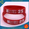 De hete MotievenEmbleem Afgedrukte RubberArmbanden van de Verkoop in Uitstekende kwaliteit