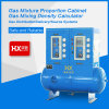 공장 또는 가스 혼합 비율 상자에서 두 배 투구 가스 혼합물 비율 내각