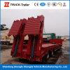 Radachse 3 100 Tonnen-hydraulischer Strichleitern Lowboy Förderwagen-halb Schlussteil Lowbed halb Schlussteil