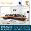 Sofa italien de salle de séjour de cuir véritable de prix bas (M0408)