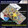 Friemelt Nieuwe iPhone Mobiele Shell van de manier met Spinner van de Vinger, 2 in-1 Spinner van de Hand