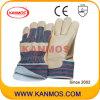 Желтые Свинья зерно кожа Зимний Рабочие перчатки с Джерси (22301)