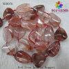 Monili naturali eccellenti della pietra preziosa, branelli rossi della pepita del quarzo del ferro