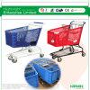 carro plástico de la carretilla de las compras del supermercado 180L