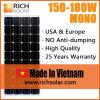 энергетическая система солнечной силы панели солнечных батарей 165W Mono 12V