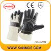 暗い家具の革作業産業安全作業手袋(310022)