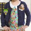 Оптовое Pure Color Spring и кардиган Autumn Round Collar Navy Blue Ladies корейский Fashion Children (KC1525)