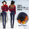 Pantaloni spessi della matita delle lane calde coreane di stile
