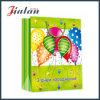 Bolso de papel de encargo impreso globo del regalo del diseño del cumpleaños