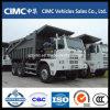 Autocarro con cassone ribaltabile di estrazione mineraria di Sinotruk HOWO 6*4 70ton