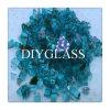 De blauwe Weerspiegelende Scherven van het Glas