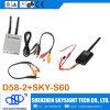 Receptor sin hilos de D58-2 5.8GHz 32CH + transmisor de Sky-N500 500MW 32CH a/V