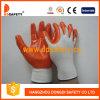 Нитрил белой Nylon раковины 13 датчиков безшовный померанцовый покрывая перчатки безопасности ровной отделки работая (DNN334)
