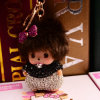 Monchhichi Cartoon Keychain per Keys Lovely Doll Pendant Key Ring Best Gift per Girl Friend Woman Bag Charm Key Chains