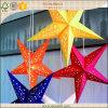 Linterna plegable de la estrella del papel grande para la fiesta de Navidad al aire libre