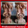 Columna de mármol tallada mano de la pista de la escultura