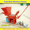 Qmr2-40労働の手動出版物の小さいLegoの土の地球の粘土の連結の煉瓦ブロックメーカー機械