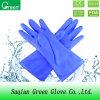 Голубые перчатки чистки кухни PVC