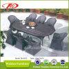 Установленная таблица ротанга патио обедая (DH-6075)