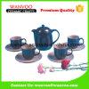 Conjunto de té de cerámica del color brillante por encargo de la fábrica