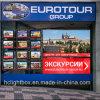 Cadre léger d'immeubles d'affichage de signe de DEL arrêtant les affichages acryliques de guichet de DEL