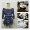 Женщины и повелительницы печатание рейона способа замыкают накоротко платье