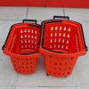 Nouveau style Supermarket Rolling Plastic Handbag panier avec des roues pour la vente en gros