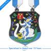 Médaille de souvenir d'université de vernis de traitement au four personnalisée par ventes chaudes de qualité dans en alliage de zinc
