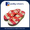 La sandalia más nueva del PVC del alto talón de 2017 mujeres