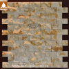 De bruine/Witte Ovale Tegel van de Muur van het Mozaïek van de Lei