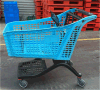 Trole plástico inteiro razoável do supermercado com estilo novo