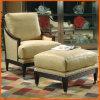 腰掛けの椅子の居間のオットマンが付いている木のChaiseのラウンジ