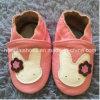 분홍색 토끼 아기 가죽 신발의 바닥