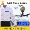 Media di promozione che fanno scorrere il distintivo nome del messaggio LED