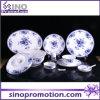 Ensemble de dîner en porcelaine ronde avec motif en fleurs Ensemble de porcelaine