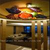 De Schotel van de Kunst van het Glas van het Plafond van Muticolour
