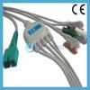 Cable rápido del terminal de componente ECG de la una sola pieza 5 del MEK MP1000 con los Leadwires, 9pin