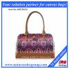 Segeltuch und lederne Dame Fashion Handbag (HBP-001)