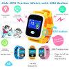 Montre chaude de traqueur des enfants GPS avec l'écran coloré de contact
