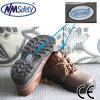 Schoenen van de Veiligheid van het Werk van de Arbeid van het Leer van Nmsafety de Bruine